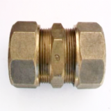 Brass Compression 25mm MDPE Alkathene Coupling - 18402500